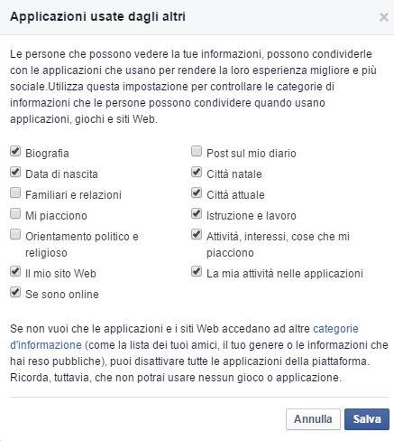 impostare applicazioni per limitare notifiche da facebook