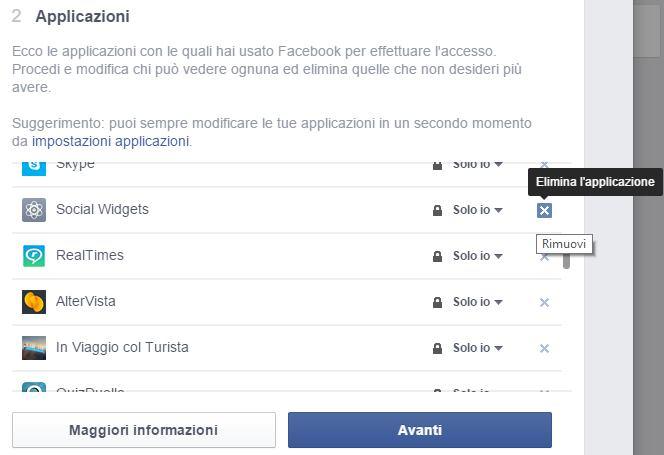 bloccare applicazioni per limitare notifiche da facebook