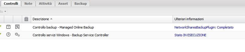 controllo online backup
