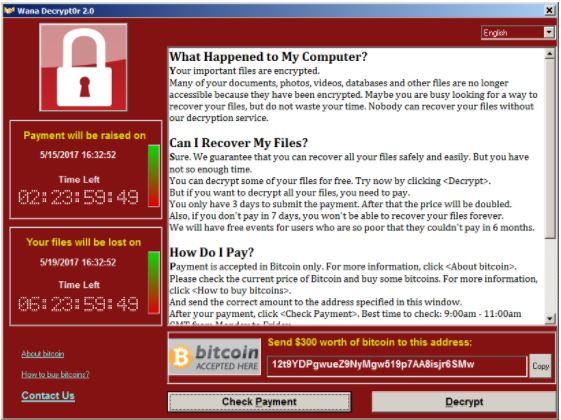 attacchi informatici wannacry