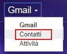 Apri la finestra Gmail- contatti