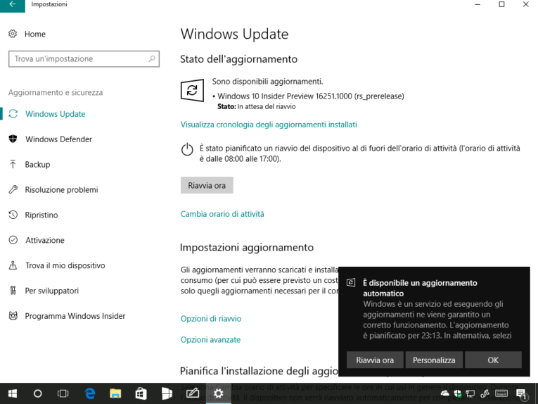 aggiornamento windows 10 download