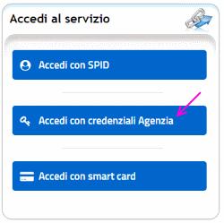 accesso tramite credenziali agenzia