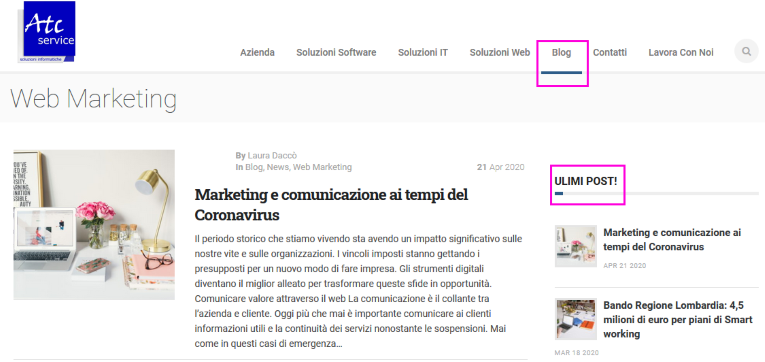 blog marketing e comunicazione